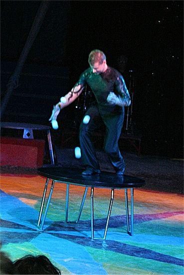 photographie d'un jongleur de balles
