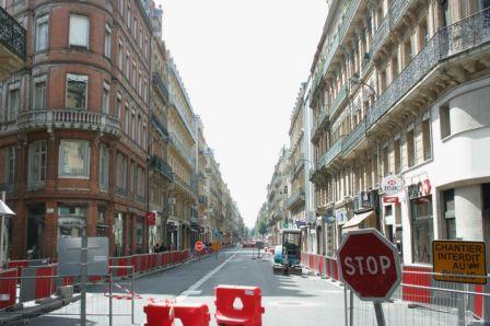 Rue d'Alsace-Lorraine pendant les gros travaux 2