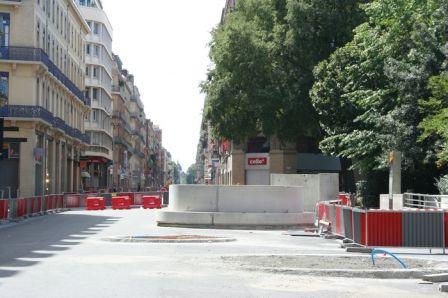 Rue d'Alsace-Lorraine pendant les gros travaux 2007