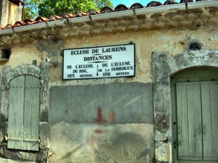 7 - Opération écluse, canal du midi, panneau écluse de Laurens