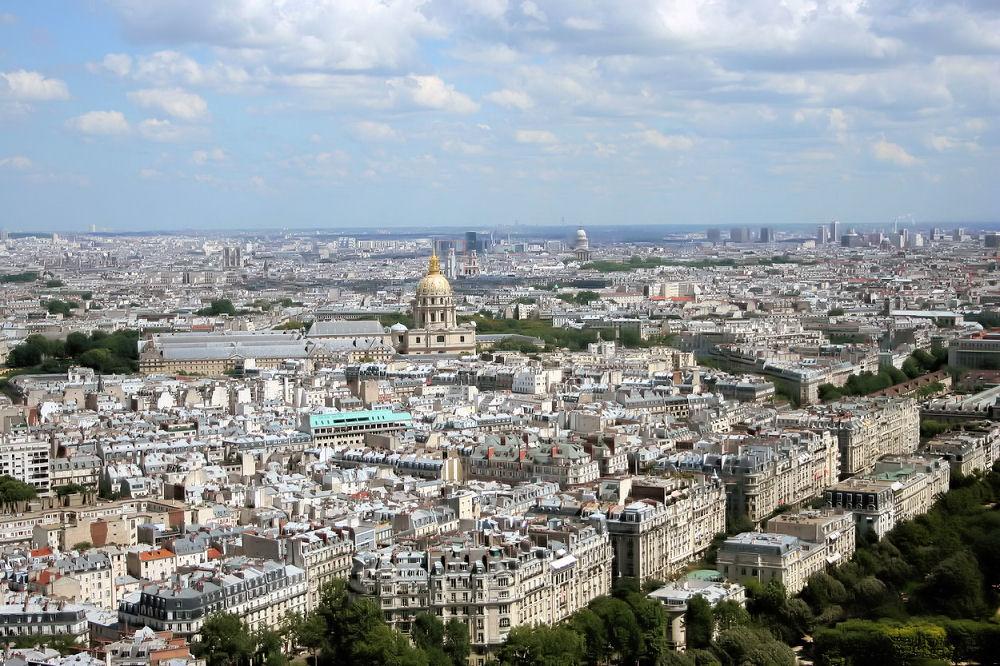 photographie vue de Paris depuis la tour Eiffel